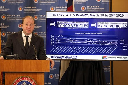 Governor Polis gives a Press Conference on COVID-19