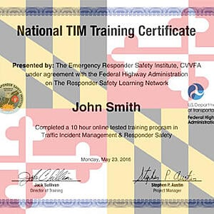 Official Certificate for TIMs Teams training