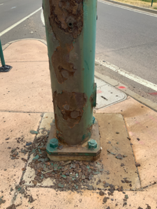 Rusted Traffic Signal Pole